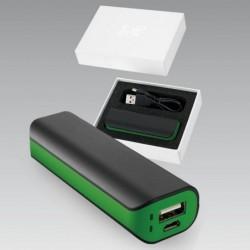 Colorissimo Power Bank Kellemes tapintású gumibevonatos 2600 mAh kapacitással.